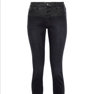 Current/Elliot Black denim with faux leather NWT